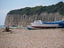 Motorowe łodzie przy wybrzeżem Zdjęcie Stock