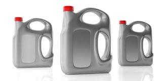 Motorowe nafciane butelki z rękojeścią odizolowywającą przeciw białemu tłu ilustracja 3 d obrazy stock