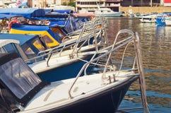 Motorowe łodzie Fotografia Stock