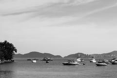Motorowe łodzie w Guaruja, Brazylia Obrazy Royalty Free