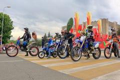 Motorowego sporta sekcja DOSAAF w Pyatigorsk, Rosja fotografia royalty free
