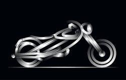 Motorowej rower ikony kreskowej sztuki wektorowy projekt ilustracja wektor