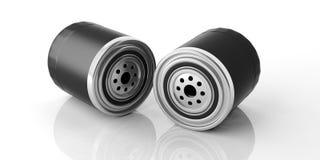 Motorowi nafciani filtry odizolowywający przeciw białemu tłu ilustracja 3 d zdjęcie stock