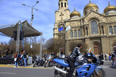 Motorowy Fest Varna kwadrat Bułgaria Obrazy Stock