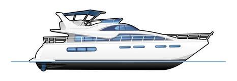 Motorowy jacht ilustracja wektor