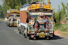 Motorowy transport, India. Zdjęcie Stock