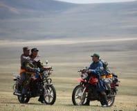 Motorräder bei Naadam stockbild