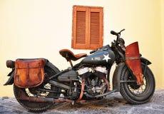 Motorräder der AMERIKANISCHEN Armee von WWII, Rhodes Island Lizenzfreies Stockfoto