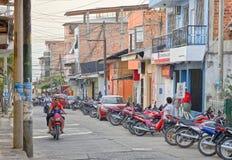 Motorräder, tarapoto, Peru lizenzfreie stockbilder