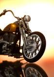 Motorrad auf abstraktem Hintergrund Lizenzfreie Stockbilder