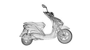Motorrad auf einem Hintergrund Stockbild