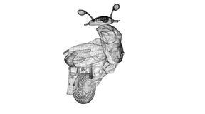 Motorrad auf einem Hintergrund Stockbilder
