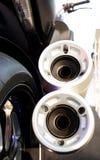 Motorrad-Auspuff Stockbild