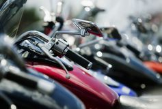 Motorrad-Bits: Lenkstange Lizenzfreie Stockfotos
