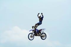 Motorrad-Bremsungen Stockfotos