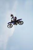 Motorrad-Bremsungs-Tricks Stockbild