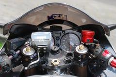 Motorrad Contols Stockbild