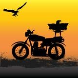 Motorrad-Dämmerung Lizenzfreie Stockbilder