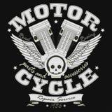 Motorrad, das Typografie-Grafiken - Vektor läuft Stockfoto