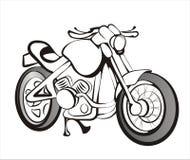 Motorrad in den schwarzen Zeilen Lizenzfreies Stockbild