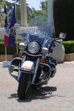Motorrad des Polizeichefs Stockfotos