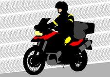 Motorrad des Touristen Stockfoto