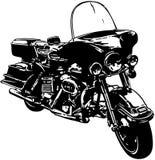 Motorrad-Fahrradkarikatur Vektor Clipart Stockfotos
