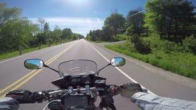 Motorrad-Fahrt stock video footage