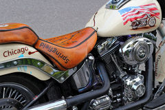 Motorrad Harley Davidson Fat Boy Stockfotos