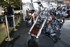 Motorrad Harley-Davidson FLSTN Softail delux Lizenzfreie Stockfotografie