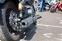 Motorrad-hinteres Rad lizenzfreie stockfotos