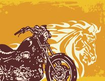 Motorrad-Hintergrund Stockfotografie