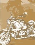 Motorrad-Hintergrund Stockbild