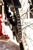 Motorrad-Ketten-Antrieb Lizenzfreie Stockfotos