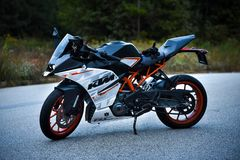 Motorrad KTM RC390 lizenzfreies stockfoto