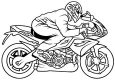Motorrad-Laufen Stockfotografie