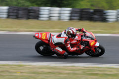 Motorrad-laufende Meisterschaft Lizenzfreies Stockbild