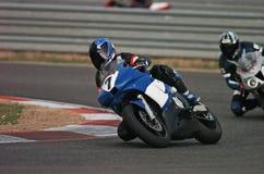 Motorrad laufendes I Lizenzfreies Stockfoto