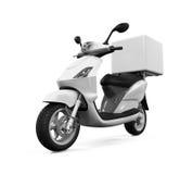 Motorrad-Lieferungs-Kasten lizenzfreie abbildung