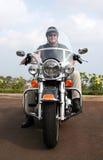 Motorrad-Mann Stockfoto