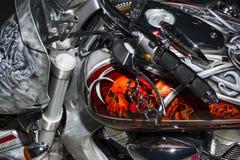 Motorrad mit Aerografie Lizenzfreie Stockbilder