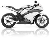 Motorrad-Motorrad-Fahrrad, das Rider Contemporary Concept reitet Stockbild