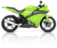 Motorrad-Motorrad-Fahrrad, das Rider Contemporary Concept reitet Lizenzfreies Stockfoto