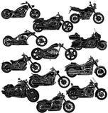 Motorrad-Paket einzeln aufgeführt Stockfoto