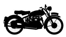 Motorrad-Schattenbild Stockfoto