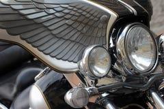 Motorrad-Scheinwerfer Stockbilder