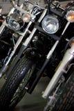 Motorrad-Scheinwerfer. Stockfoto