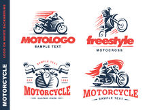 Motorrad-Schildemblem, Logodesign vektor abbildung