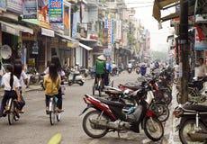 Motorrad-Straßen-Szene Stockbilder