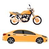 Motorrad und Auto Lizenzfreie Stockfotografie